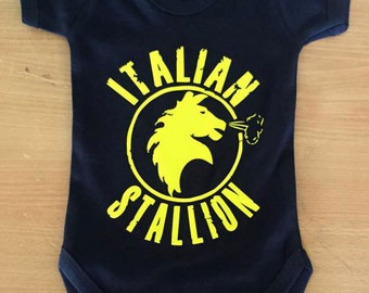 Italian Stallion Baby Vest / Body Suit / Play Suit