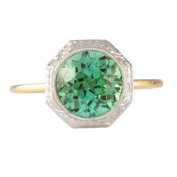 antique tourmaline engagement ring handmade ring