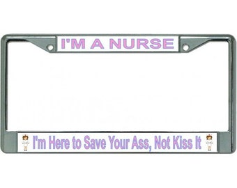im a nursephoto license plate frame lpo2632