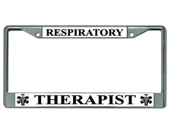 respiratory therapist photo license plate frame lpo1934