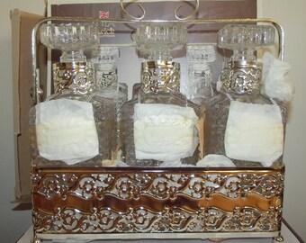 Vintage Warwick Silver Plate Tantalus. Unused.