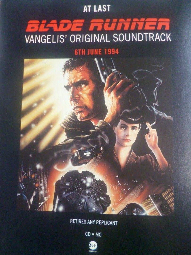 Blade Runner Original Soundtrack Mounted Original Press - photo#5