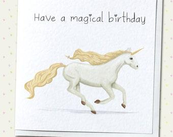 Magical Birthday Unicorn Greetings Card