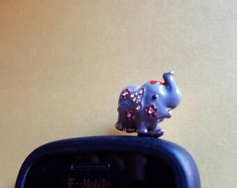 Very Cute Elephant Anti Dust Plug Phone Accessories Charm Headphone Jack Earphone Cap