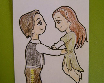 Han and Leia Chibi