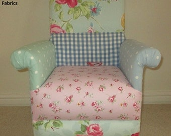 Fryetts Vintage Patchwork Pink Fabric Chair Amp Footstool Shabby