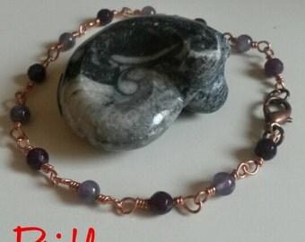 Copper bracelets Knots and stones