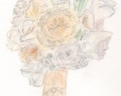 Custom Bridal Bouquet Ill...