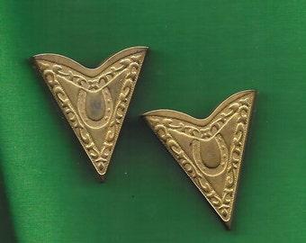 Vintage Metal Collar Tips