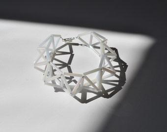 himmeli bracelet pearl white