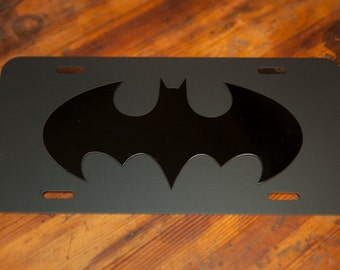 The Batman Chronicles License Plate - Blacked Out Version