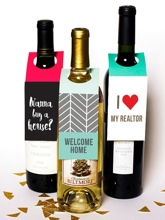 Realtor Real Estate Agent Water Bottles Wine By