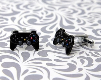 ON SALE Remote cufflinks Game Console gamer player play