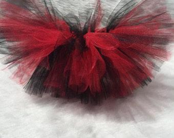 Handmade baby girl red and black birthday tutu