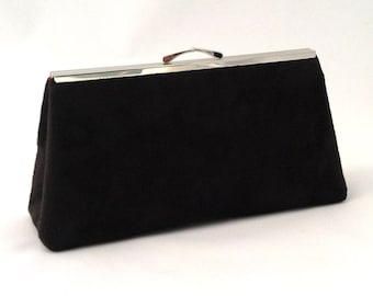 Beautiful Black Suede Handbag