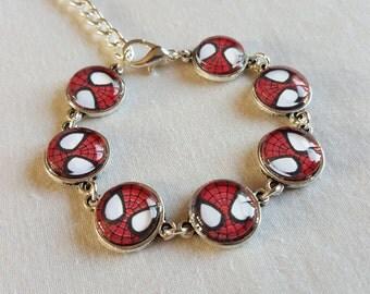 Marvel, Spiderman image link bracelet