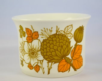 1970s Midwinter 'Countryside' sugar bowl, olive and orange hedgerow pattern