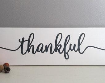 Fall Sign - Fall Decor - Thankful Sign - Thanksgiving Wood Sign - Fall Wood Sign - Fall Decor Signs - Fall Home Decor
