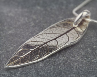 Leaf necklace ~ silver leaf ~ nature inspired ~ buddlia leaf ~ leaf pendant