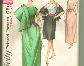 Vintage Simplicity Printed Pattern # 5718 Misses' Blouse,Stole, Sash And Skirt In Two Lengths , Size 16, Bust 36  Uncut Factory Folded