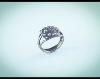 Micro-Organism Silver Ring 3