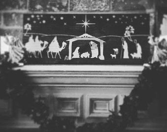 "Nativity Christmas Home Decor (28"" x 11.25"" x 1.5"") Wall Art, Home Decor, Christmas"