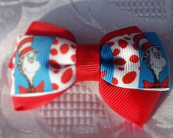 Cat in the Hat hair bow