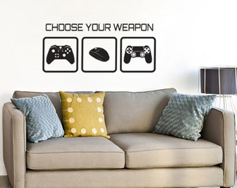 Gaming Wall Sticker   Choose Your Weapon Video Game Wall Sticker Part 50