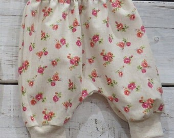 Heaven Sent handmade baby girl harem pant floral flowers size 0