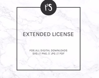 Extended License for Business Use - for SVG and Downloadable Prints