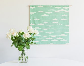 SALE!! Seafoam Abstract - 47x47.5cm Handmade Banner - Ready to Ship