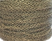 Antique Brass Chain - 10 Yards - 2x1.5mm necklace bracelet jewelry DIY supplies roll cross cable