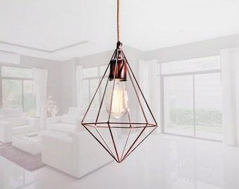 Handmade Himmeli Geometric Modern Light Metal & Minimal Lamp