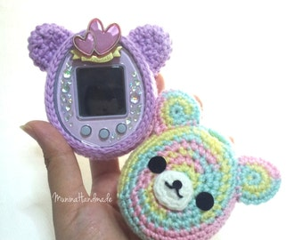 Cute bear's face : Tamagotchi crochet cover