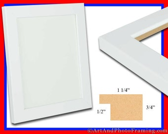 large white photo frame 125 wide white picture frame flat eco friendly 18 x 24 20 x 24 20 x 30 22 x 28 24 x 36 20x30 custom sizes