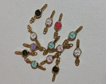 Alloy watch embellishment/decoration/charm 6pc