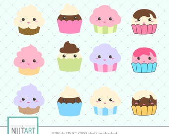 Cupcake clipart ,Sweets clipart, vector graphics, whipped cream clipart,  digital images -  CL 038