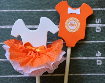 University of Tennessee, Sports Team, College Teams, Tutus & Bow Ties Cupcake Toppers, Tutus or touchdowns, Gender reveal