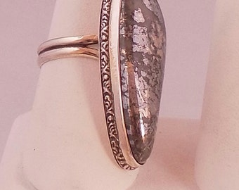 Sterling Silver and silver oar ring