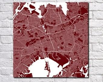 Queens Street Map Print Map of Queens Street Map New York Poster New York City Wall Art 7092S