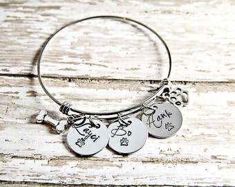Pet Memorial - Dog Lover Bracelet  - Dog Charm Bracelet - Dog Lover Gift - Fur Baby - Pet Loss Jewelry - Dog Loss - Pet Loss