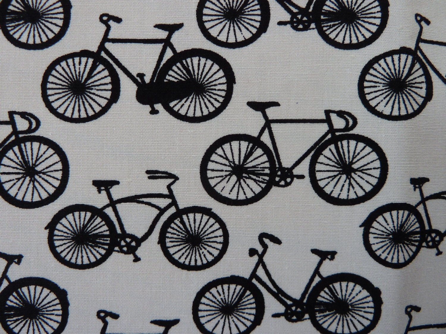 Black & White Bikes Fabric 100% Cotton Poplin Fun Bicycle