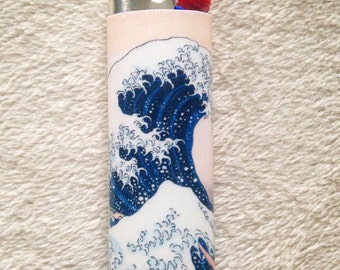 "Hokusai ""The Great Wave off Kanagawa"" Custom Lighter"