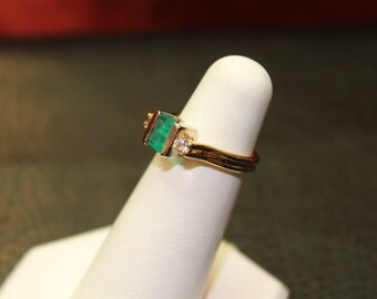 "60% Off - Effy ""BITA"" 14K yellow gold Emerald and Diamond ring"