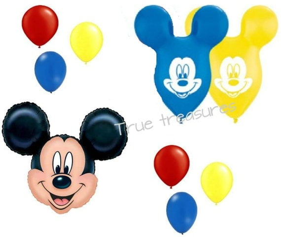 Mickey Mouse Ears And Head Shaped 9 Piece Balloon Birthday