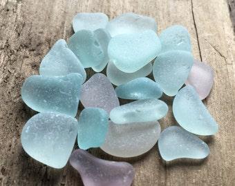 Blue & Purple Sea Glass Mix