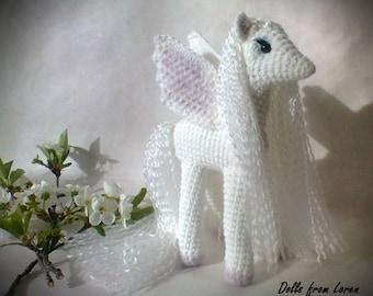 White Crochet Pegasus MADE TO ORDER