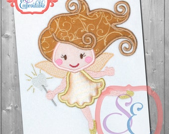 TOOTH FAIRY Applique Design For Machine Embroidery INSTANT Download