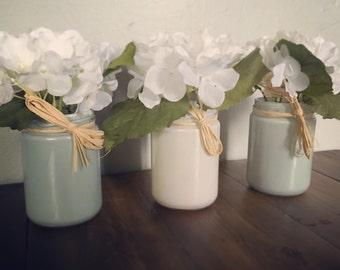 Rustic Jar with Floral Accent Decor