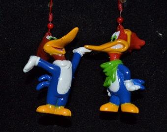 Woody Woodpecker Earring Set- Each Earring Different1